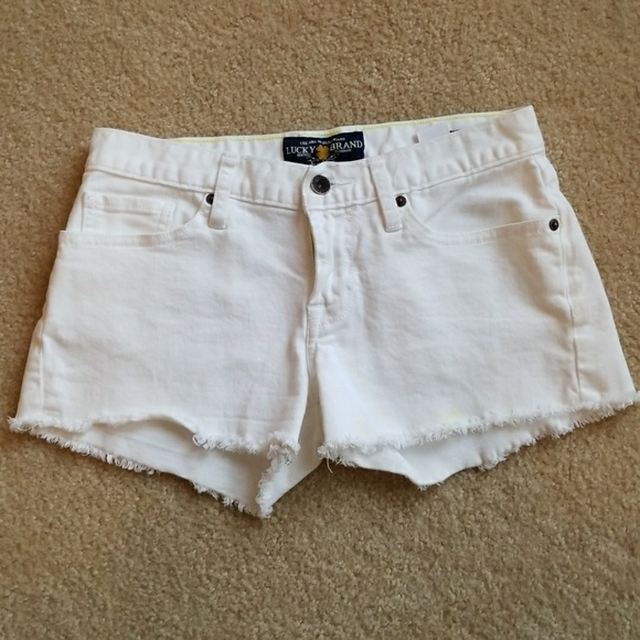 47adf76941d6 Lucky Brand Pants - Lucky Brand White Denim Shorts 1